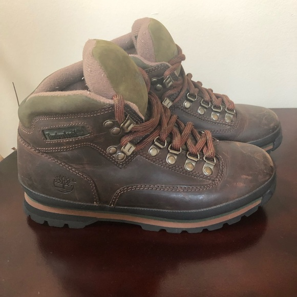 a34d83d4cb8 Timberland Euro hiker brown hiking boots